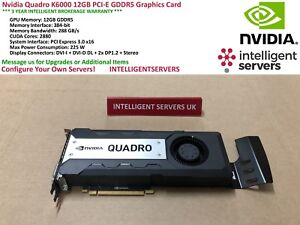 Nvidia Quadro K6000 12GB PCI-E GDDR5 Graphics Card