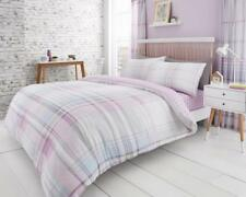 Jackson & Newton Tartan Check Duvet/Quilt Cover Bedding Sets With Pillow Cases