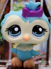 LITTLEST PET SHOP ❁ BLUE & CREAM BARN OWL #1569 ❁ NEW ❁ COLLECTOR PACK BABY BIRD