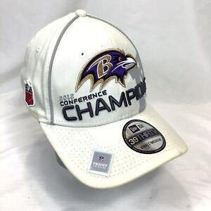 New Era 39Thirty NFL Trophy S/M Hat Baltimore Ravens 2012 Superbowl 47 Stickers