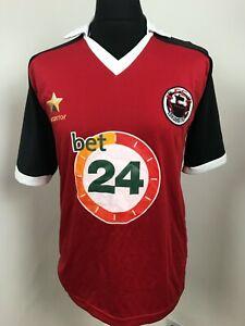 FC Lokomotiv Rouge Matchworn Football Jersey Taille L