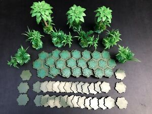 Heroscape Ticalla Jungle Trees & Underbrushes w/ Swamp Terrain/Swamp Water Tiles
