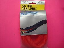 4FT 1/2IN CALTERM HONDA RED SPLIT SEAM  FLEXIBLE WIRE CABLE LOOM TUBING WRAP