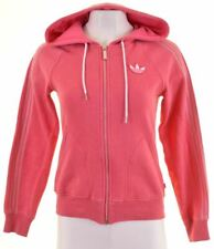 ADIDAS Womens Hoodie Sweater EU 36 Small Pink Cotton  AG12