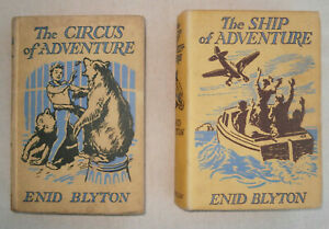 2 ENID BLYTON 1ST FIRST EDITIONs THE SHIP OF ADVENTURE + THE CASTLE OF ADVENTURE