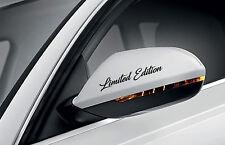 4x Limited Edition Auto Aufkleber Sticker Folie Türgriff Außenspiegel Felgen 01