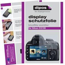 6x dipos Nikon D3100 Schutzfolie klar Displayschutzfolie Folie Clear kratzfest