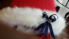 A Stunning Fur HoodTrim For SilverCross Dolls Pram Various Colour Bows Available