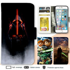 iPhone 8 7 Plus 6s X SE Case Star Wars Print Wallet Leather Cover For Apple 5s 4