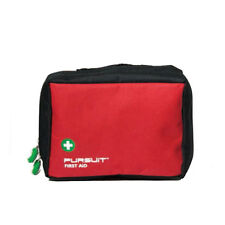 EMPTY LARGE FIRST AID BAG - RED - BELT LOOPS AND MESH POCKETS - OUTDOOR SPORTS