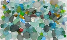 GENUINE BEACH SEA GLASS PREMIUM COLORS (IRREGULAR) LOT SURF TUMBLED