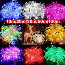 10-100m LEDs Navidad Árbol de Cadena de hadas Luces de fiesta Lámpara Navidad