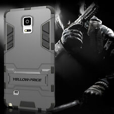 Galaxy Note 4 Case, [KICK-STAND] [Iron Man]Shockproof Protection Cover + Films