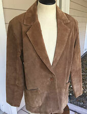 Savannah Women's Light Brown Suede Leather Fully Lined Jacket Size 8 - EUC