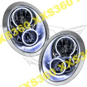 ORACLE Halo HEADLIGHTS for Mini Cooper/S 05-08 WHITE LED Angel Demon Eyes