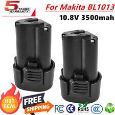 2X 3,5AH 10.8V Li-ion Battery For Makita BL1013 BL1014 TD090DW LCT203 194550-6