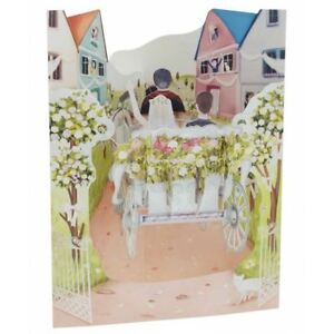 Santoro 3D Pp Up Swing Cards -Wedding Carriage