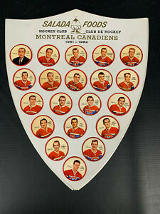 1961-62 SHIRRIFFMONTREAL CANADIENS COIN FULL TEAM SET 20/20 WITH SHIELD