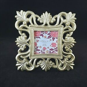 Azzure Home Small Gold Gilded Resin Picture Frame Photo Frame Hollywood Regency