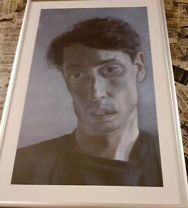 """John Minton Portrait by Lucian Freud print in  10 x 14 """" AMS frame"""