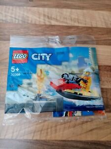 Lego City 30368 - Fire Rescue Water Scooter - Brand New Polybag