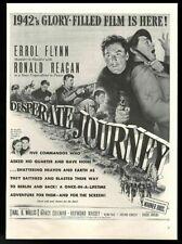 1942 Ronald Reagan Errol Flynn photo Desperate Journey movie release print ad