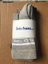 iets frans Socks Pair UK 6.5-11 EUR 40-45 Play Time Don't Play Me Men Grey Blue