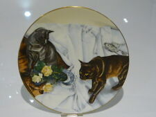 Cats Cause Chaos -Siamese and Split Roses - Lesley Fotherby Coalport Plate no:38