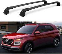 2Pcs Fit for Hyundai Venue 2019 2020 2021 Roof Rail Racks Cross Bars Crossbars