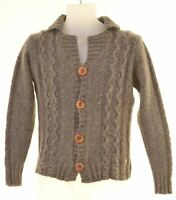 SCOTCH & SODA Mens Cardigan Sweater Small Grey Lambswool  ML02