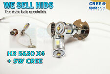 2pc H3 SMD 5W CREE + 4 5630 LEDS WHITE FOG LIGHT FLASH DRL PROJECTOR daytime