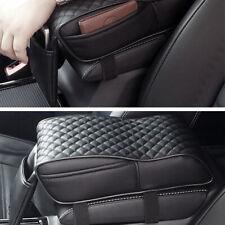 Universal Auto Car Armrest Cover Box PU Armrest Pillow Memory Foam Black Cushion