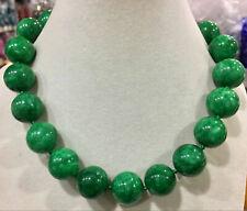 "Wholesale Huge Natural 20MM Green Jade Gemstone Necklace 18"" AAA"