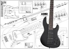 Jazz-Style 5-String Bass Full-Scale Plan