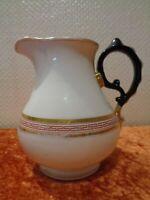 Biedermeier Porcelana Leche Jarra / Jarra 0,8L - Vintage - Altura 15cm - Um 1850