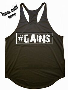 Iron Gods | #GAINS| Workout Y-Back Stringer Tank Top Gym Apparel Weight Training