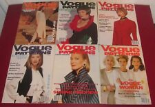 Job Lot 6 VOGUE PATTERNS MAGAZINES 1993 Fashion Lifestyle Chic