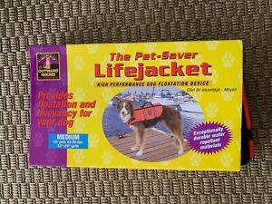 OUTWARD HOUND The Pet-Savor Lifejacket Size Medium Dog Puppy Safety    NIB
