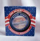 1991 Desert Storm Fighter Jet Ceramic Keepsake Medallion Ornament Amer Greetings