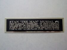 Stan Musial Cardinals Engraved Nameplate For A Signed Baseball Bat Case 1.5X8