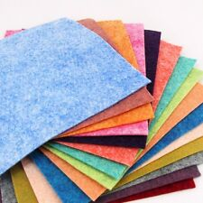 "15 - 9""X12""  Luminous Heathered Collection - Merino Wool blend Felt Sheets"
