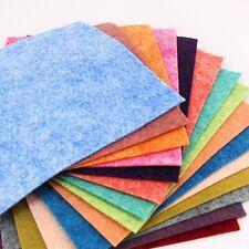 "15 - 9""X12""  Luminous Heathered Collection - Merino Wool blend Felt Sheets"