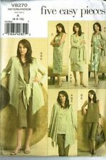 Vogue V8270 Wrap Jacket Shell Dress Skirt Pants 5 Easy Pieces Size 6-8-10