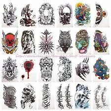 "20 sheets wholesale large 8.25"" temporary arm tattoo bulk tattoos (#a4a7a8)"