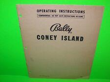 Bally Coney Island Original 1951 Bingo Game Pinball Machine Service Manual