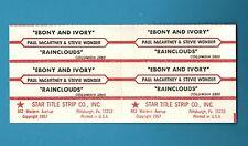 Paul McCartney / Stevie Wonder - Ebony and Ivory /  4 title strips