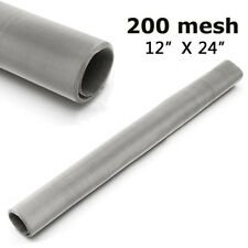 200 Mesh 75 Micron Stainless Steel Woven Wire Sheet Fine Filter Screen 30x60cm