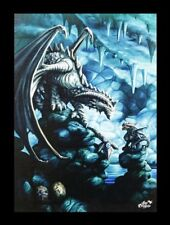 Große Leinwand Steindrache - Rock Dragon - Anne Stokes Fantasy Druck Bild Deko