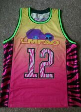 LMFAO Multi Color Shufflin Basketball Jersey Party Rock Redfoo Skyblu Large L