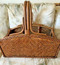 Large Basket Antique Vintage Polynesian Asian Tight Woven Asian Dark